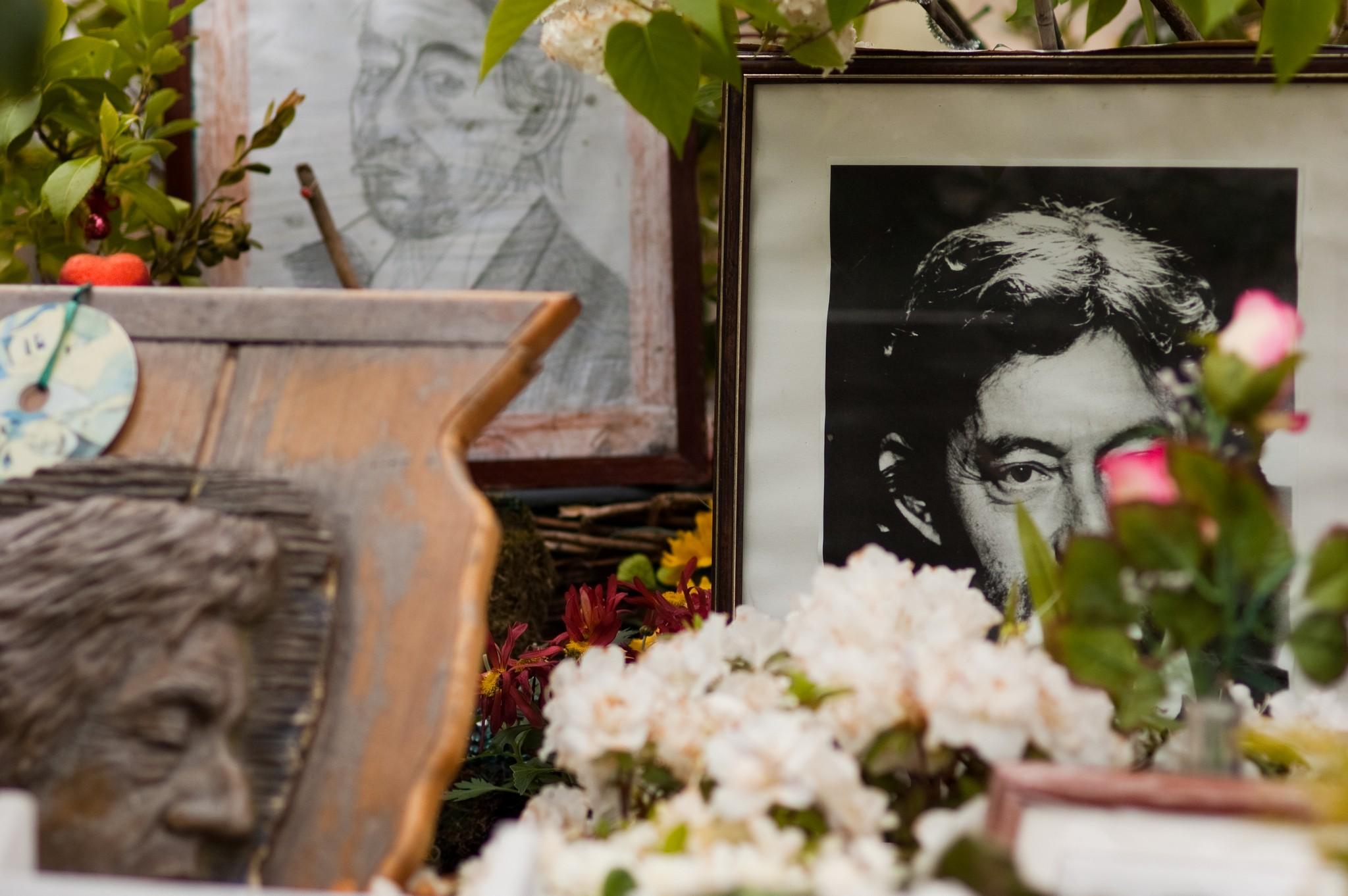 Grab von Serge Gainsbourg, Cimetière du Montparnasse, Paris, Mai 2009